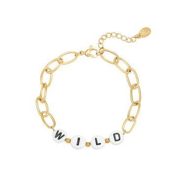 Goodies Goodies Goudkleurige Armband Beads Wild