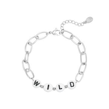 Goodies Goodies Zilverkleurige Armband Beads Wild