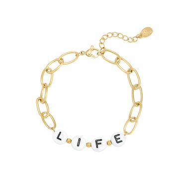 Goodies Goodies Goudkleurige Armband Beads Life
