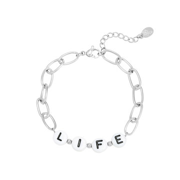 Goodies Goodies Zilverkleurige Armband Beads Life