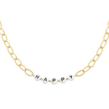 Goodies Goodies Goudkleurige Ketting Beads Happy