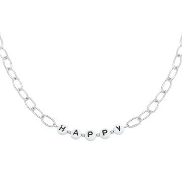 Goodies Goodies Zilverkleurige Ketting Beads Happy