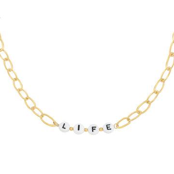 Goodies Goodies Goudkleurige Ketting Beads Life