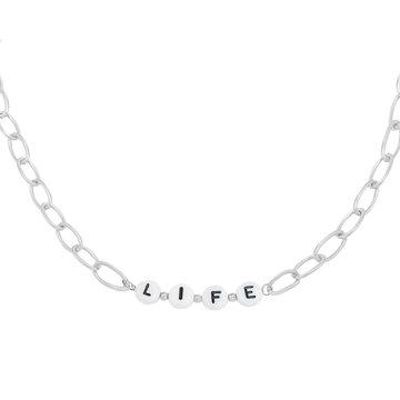 Goodies Goodies Zilverkleurige Ketting Beads Life