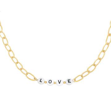 Goodies Goodies Goudkleurige Ketting Beads Love