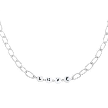 Goodies Goodies Zilverkleurige Ketting Beads Love