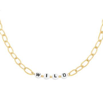 Goodies Goodies Goudkleurige Ketting Beads Wild