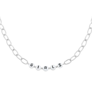 Goodies Goodies Zilverkleurige Ketting Beads Girls