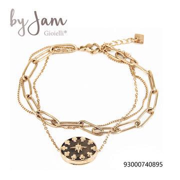 By Jam Gioielli By Jam Goudkleurige Armband  Grijze Steen