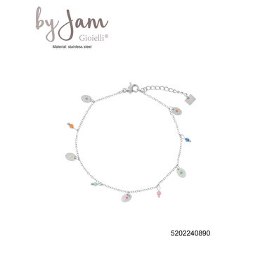 By Jam Gioielli By Jam Zilverkleurige Armband Kralen & Coins