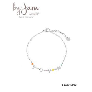 By Jam Gioielli By Jam Zilverkleurige Armband Joy & Kralen