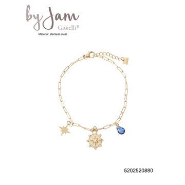 By Jam Gioielli By Jam Goudkleurige Armband Ster & Blauw Steentje