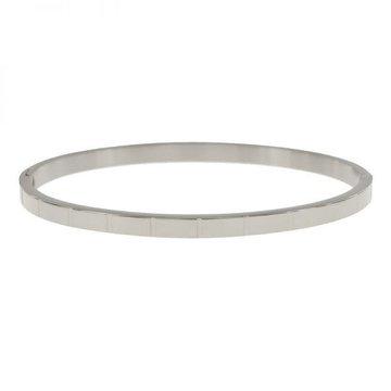 Kalli Kalli Zilverkleurige Armband Met Strepen