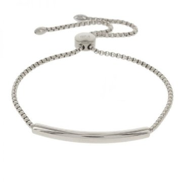 Kalli Kalli Zilverkleurige Armband Met Crystal