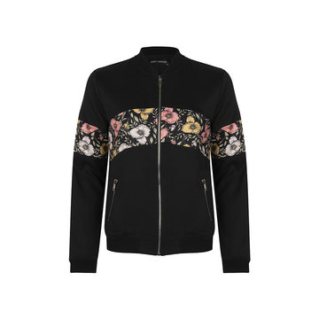 Lofty Manner Lofty Manner Bomberjacket Zwart & Bloemen