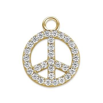 Mi Moneda MMM Charm Peace CZ Goudkleurig