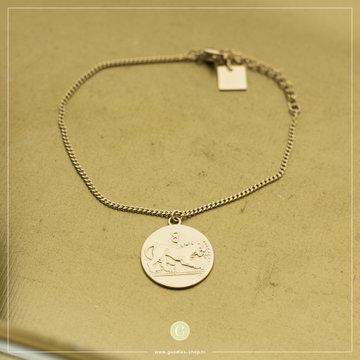 Zag Bijoux Zag Bijoux Bracelet Lion Coin Goudkleuirg