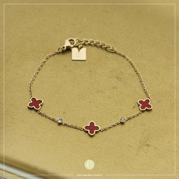 Zag Bijoux Zag Bijoux Bracelet Coral Good Luck Goudkleurig