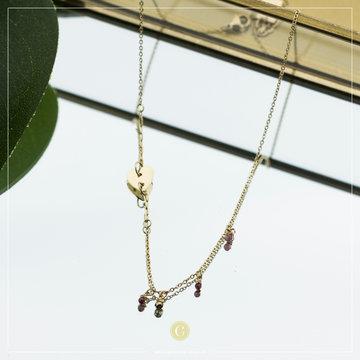 Zag Bijoux Zag Bijoux Necklace Heart Goudkleurig