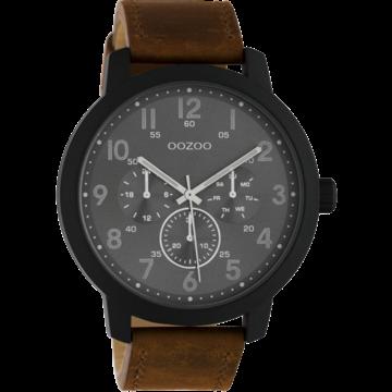 Oozoo Timepieces Oozoo Horloge C10507 brown/darkgrey