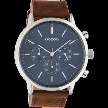 Oozoo Timepieces Oozoo Horloge C10540 cognac/blue