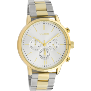 Oozoo Timepieces Oozoo Horloge C10547 silver/gold/silvercolor