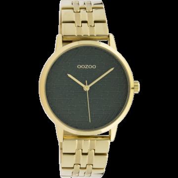 Oozoo Timepieces Oozoo Horloge C10558 goldcolor/green