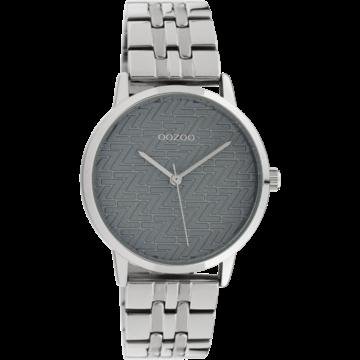 Oozoo Timepieces Oozoo Horloge C10555 silvercolor/grey