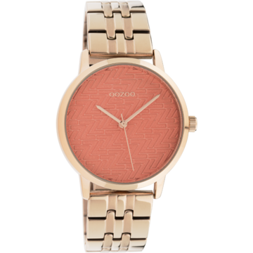 Oozoo Timepieces Oozoo Horloge C10559 rose/dusty orange