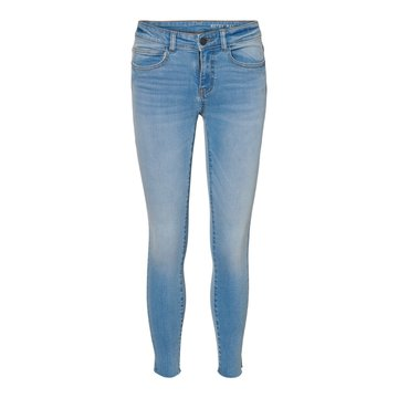 Noisy May Noisy May NM Lucy New Skinny Ankle Jeans Light Blue Denim