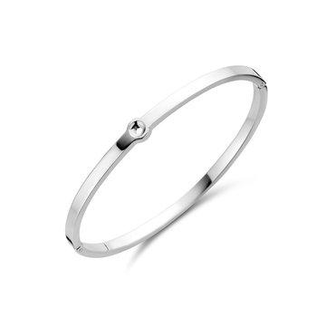 Melano Melano Twisted Tabora Armband Zilverkleurig
