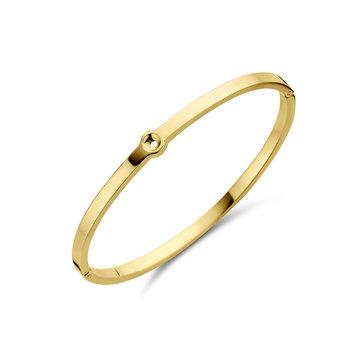 Melano Melano Twisted Tabora Armband Goudkleurig