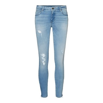 Noisy May Noisy May Kimmy Regular Waist Ankle Skinny Jeans Light Blue