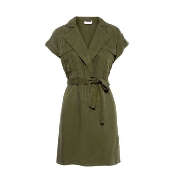 Noisy May Noisy May Tencel Blouse Jurk Olive Night