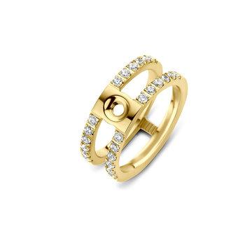 Melano Melano Twisted Trista CZ Ring Goudkleurig