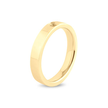 Melano Melano Twisted Tatum Ring Goudkleurig