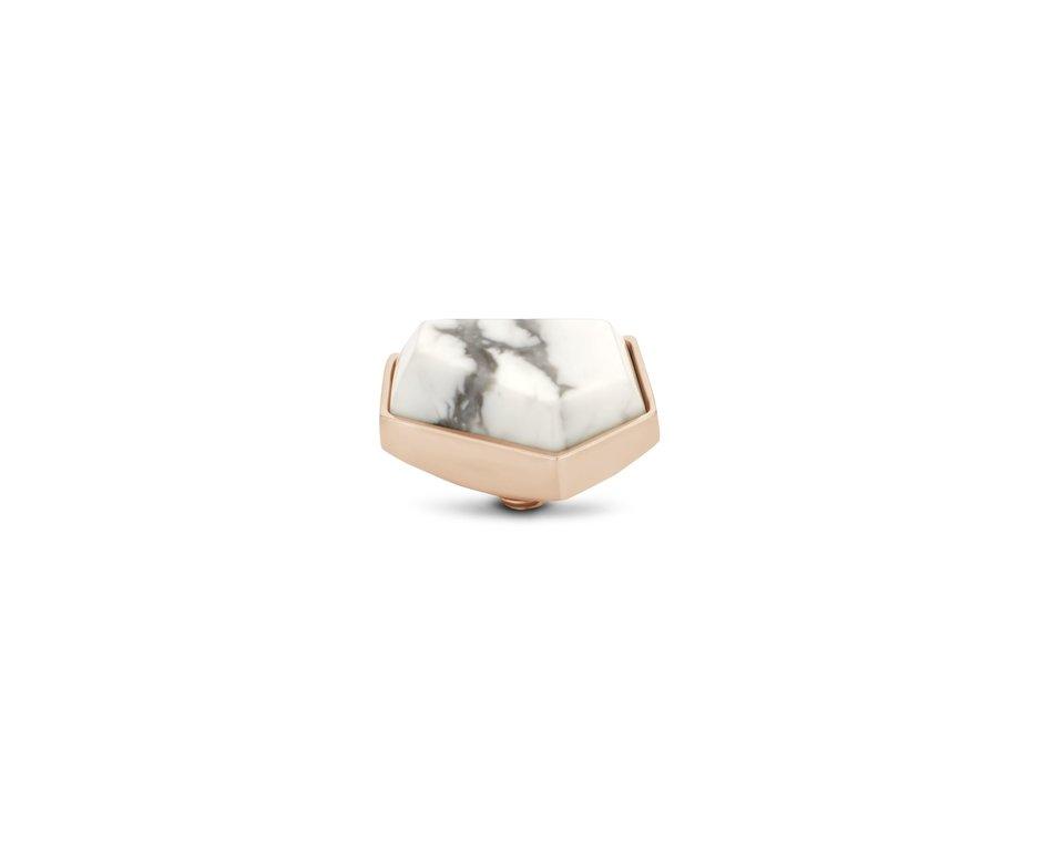 Melano Melano Twisted Stone Geo 12mm Howlite Rosé