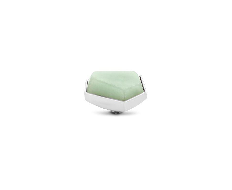 Melano Melano Twisted Stone Geo 12mm Amazon Zilvekleurig