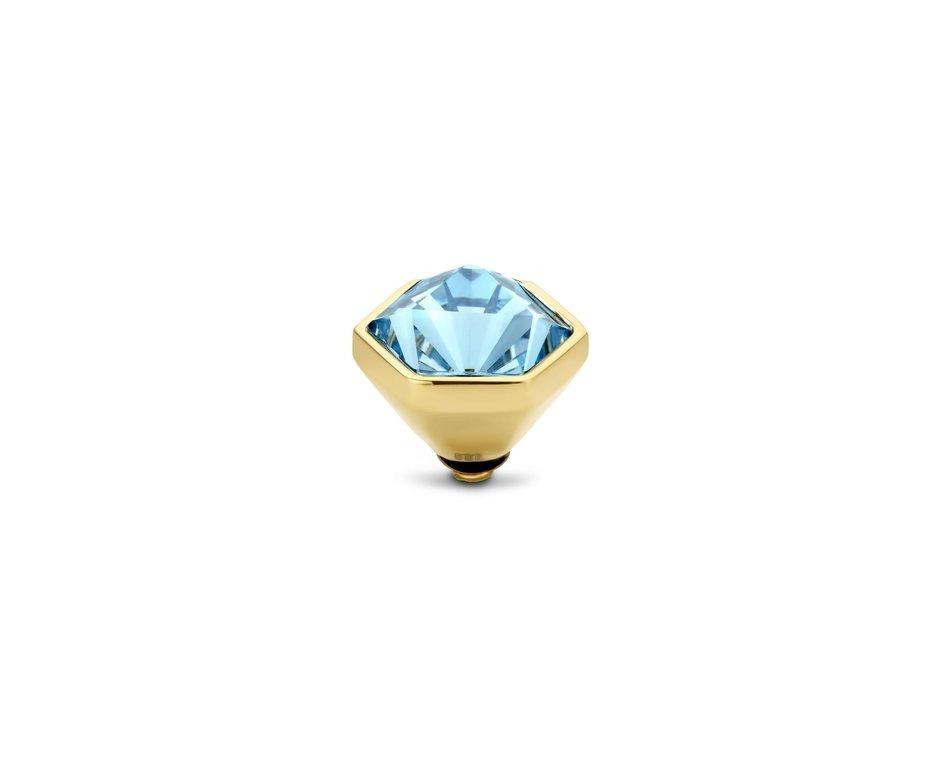 Melano Melano Twisted Stone Hexa Aquamarine Goudkleurig