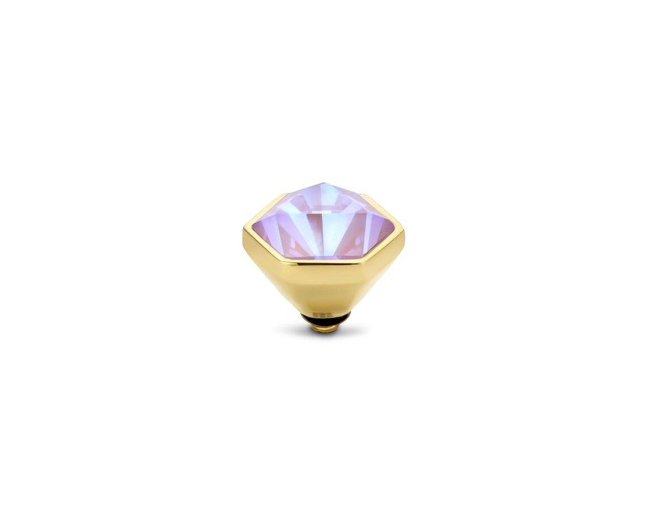Melano Melano Twisted Stone Hexa Crystal Laven Delight Goudkleurig