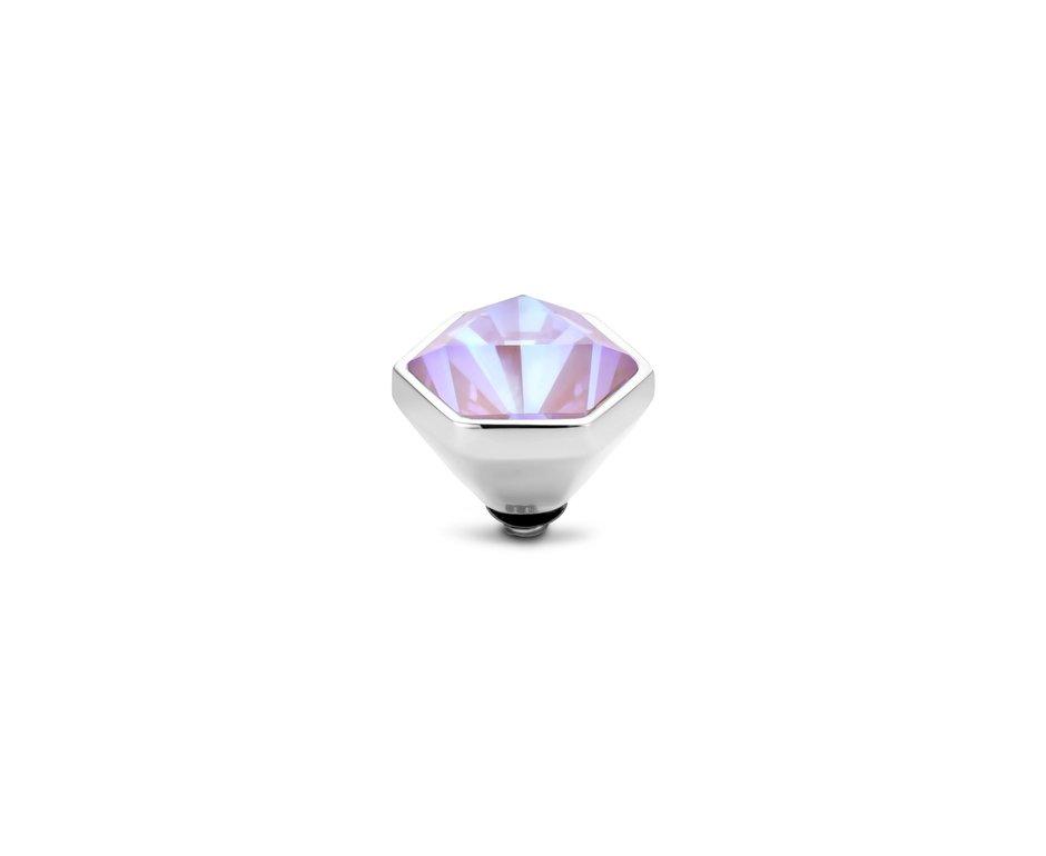 Melano Melano Twisted Stone Hexa Crystal Laven Delight Zilverkleurig