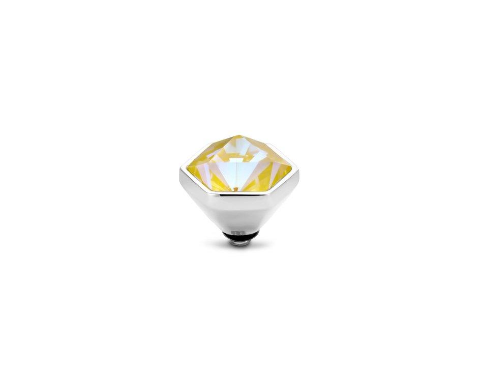 Melano Melano Twisted Stone Hexa Crystal Sun Delight Zilverkleurig