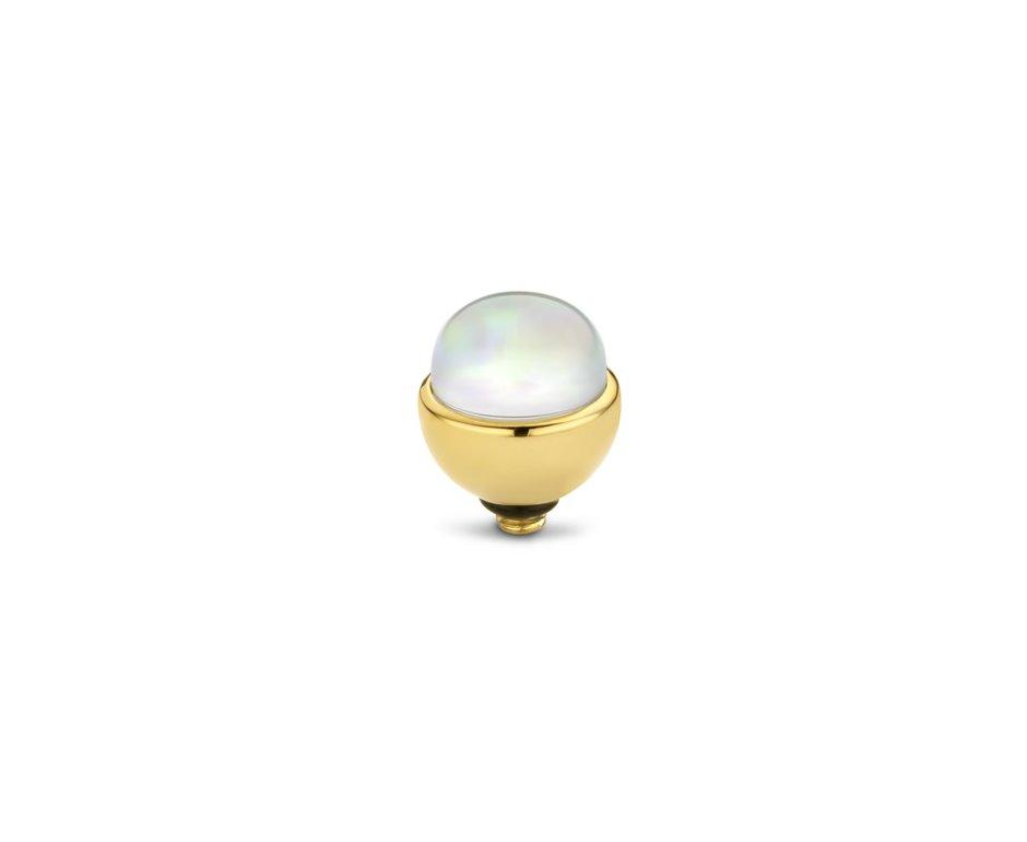 Melano Melano Twisted Stone Opal 6mm Goudkleurig