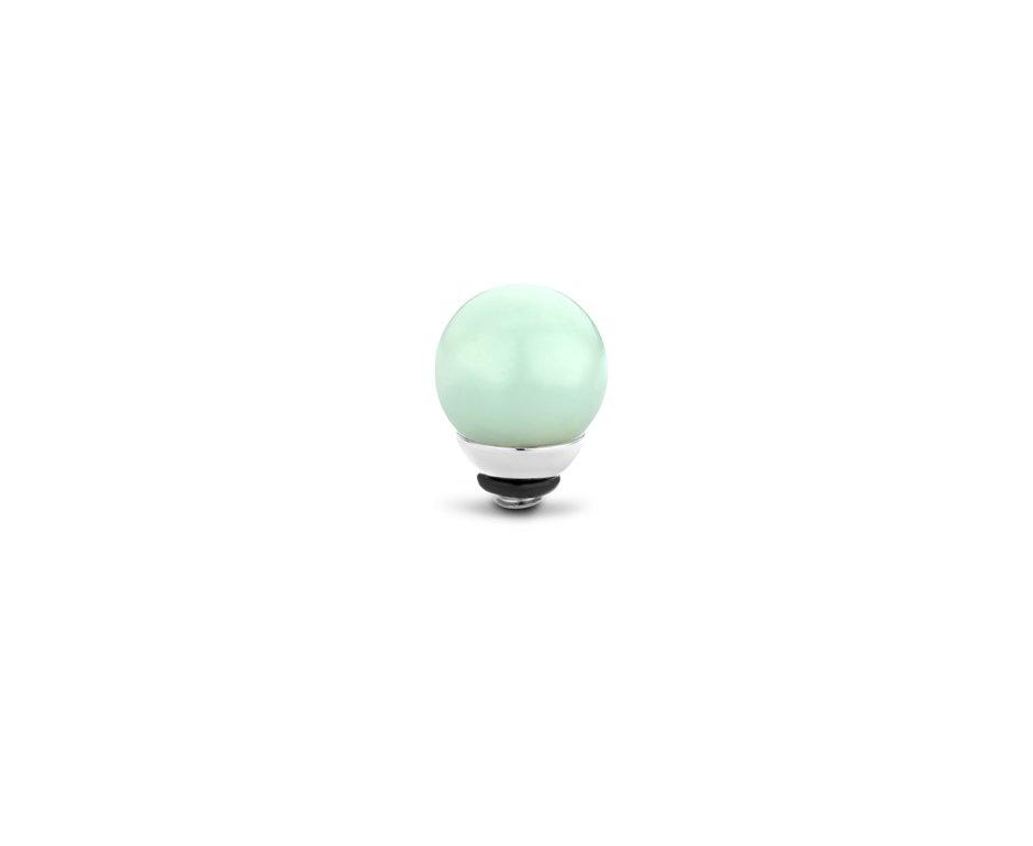 Melano Melano Twisted Gem Ball 8mm Amazon Zilverkleurig