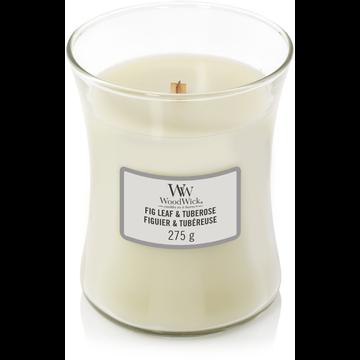 WoodWick WoodWick Fig Leaf & Tubrose Medium Candle