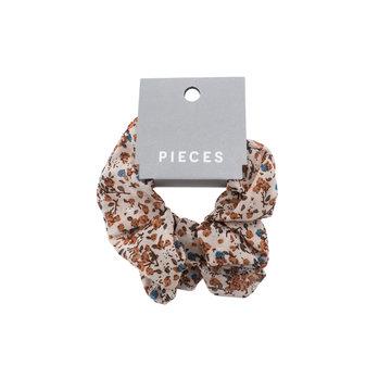 Pieces Pieces Scrunchie Warm Sand Flowers