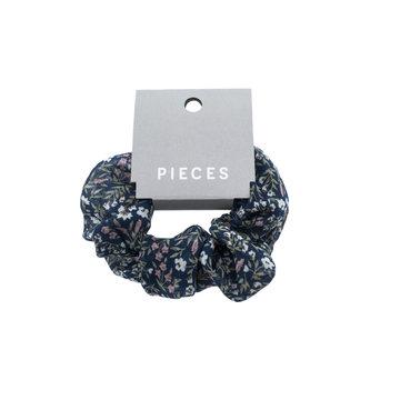 Pieces Pieces Scrunchie Maritime Blue Flowers