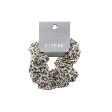 Pieces Pieces Scrunchie Bright White Flowers