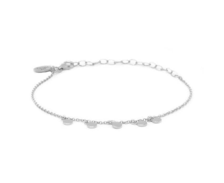 Zag Bijoux Karma Bracelet 5 Discus Zilver