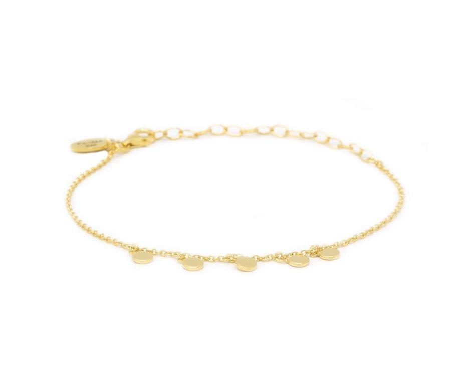 Zag Bijoux Karma Bracelet 5 Discus Goudkleurig